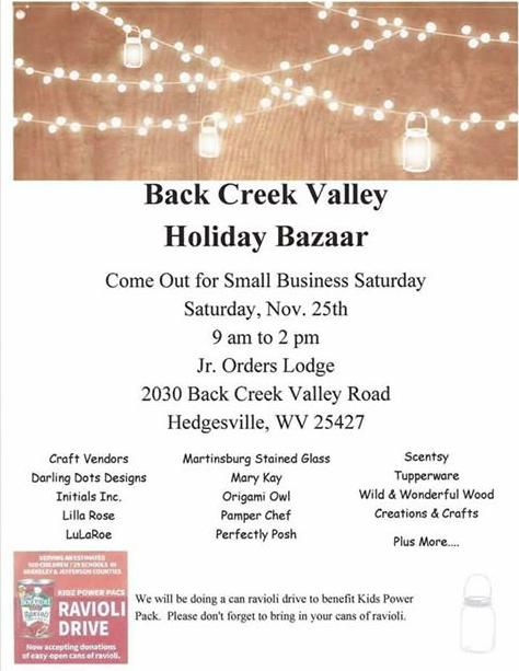 Back Creek Valley Holiday Bazaar