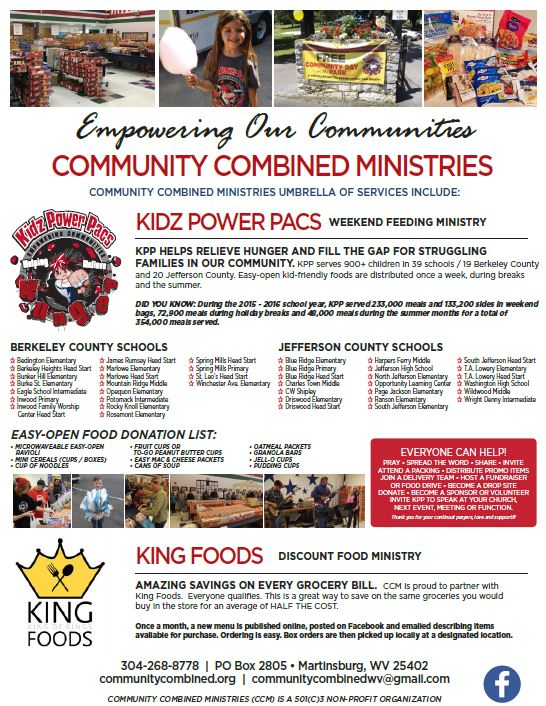 Kidz power pacs weekend feeding ministry and king foods discount food ministry