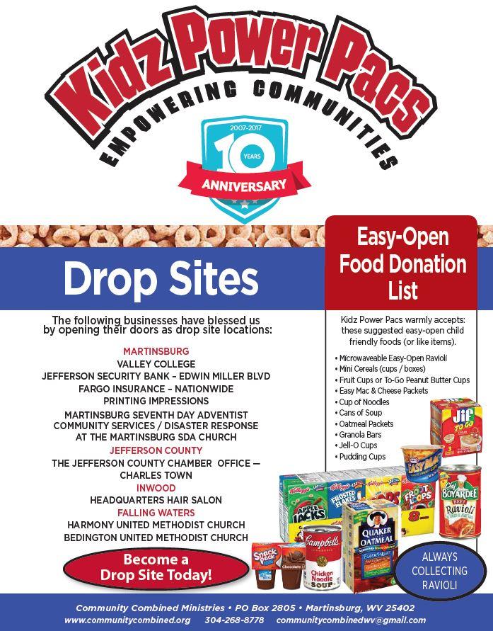 KPP donation drop sites