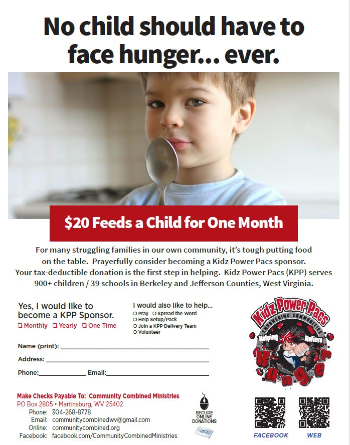$20 dollars feeds a child for one month
