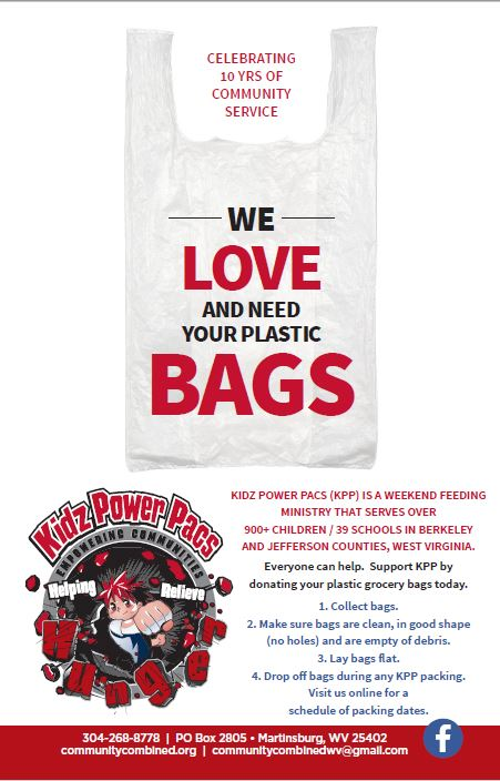 We need your donations of clean plastic bags.