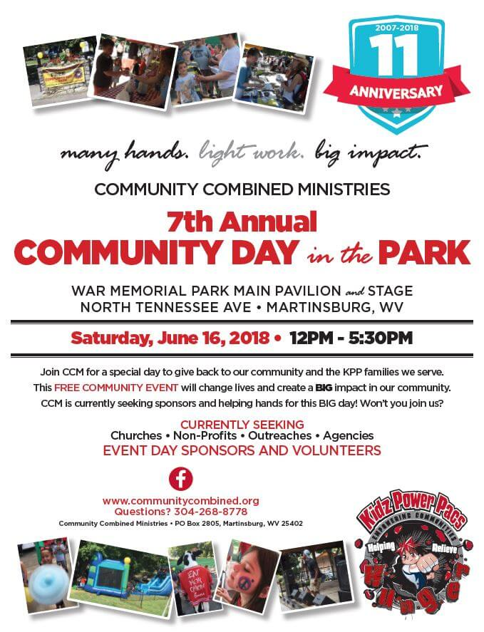 Be an event sponsor for our Community Day in the Park